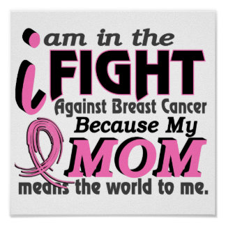 La mamá significa el mundo a mí cáncer de pecho póster