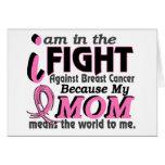 La mamá significa el mundo a mí cáncer de pecho felicitacion