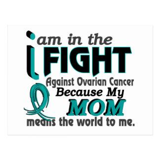 La mamá significa el mundo a mí cáncer ovárico tarjeta postal