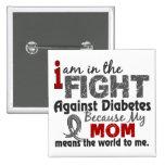 La mamá significa el mundo a mí diabetes pin