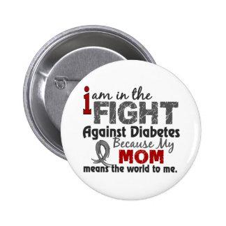 La mamá significa el mundo a mí diabetes pin redondo de 2 pulgadas