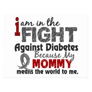 La mamá significa el mundo a mí diabetes tarjeta postal