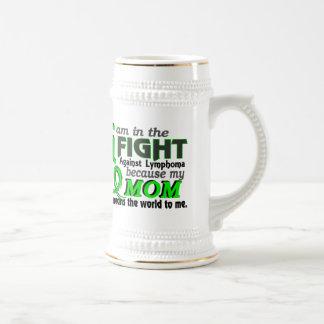 La mamá significa el mundo a mí linfoma jarra de cerveza