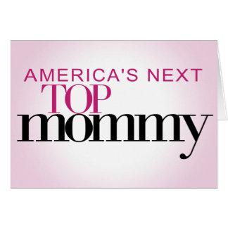 La mamá superior siguiente de América Tarjeta De Felicitación