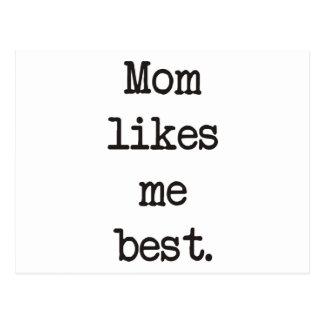¡La mamá tiene gusto de mí los mejores productos y Tarjetas Postales