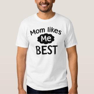 La mamá tiene gusto de mí mejor camisas