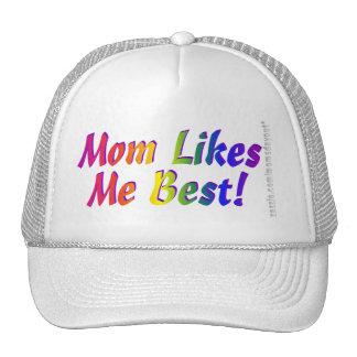 ¡La mamá tiene gusto de mí mejor! Gorros Bordados