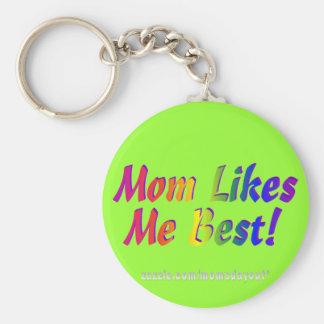 ¡La mamá tiene gusto de mí mejor! Llavero Redondo Tipo Pin