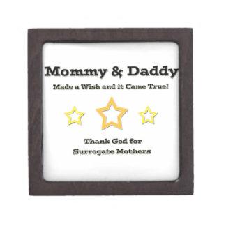 ¡La mamá y el papá hicieron un deseo y vino verdad Caja De Recuerdo De Calidad