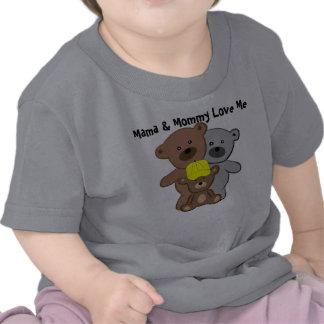 La mamá y la mamá me aman camisetas