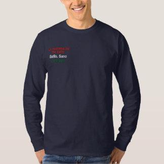 La mamma mi ha fatto, Bello, Sano, e Italiano! Embroidered Long Sleeve T-Shirt