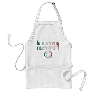 La Mamma Numero 1 ( Number 1 Mom in Italian ) Adult Apron