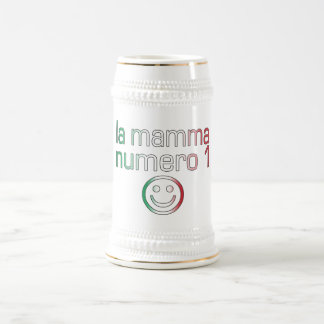 La Mamma Numero 1 ( Number 1 Mom in Italian ) Beer Stein