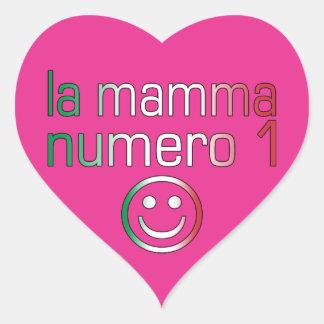 La Mamma Numero 1 ( Number 1 Mom in Italian ) Heart Sticker