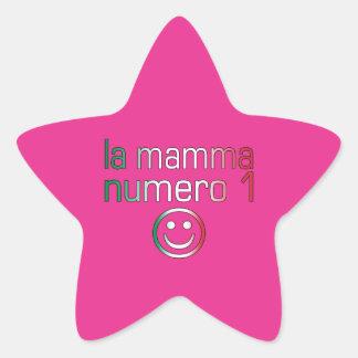 La Mamma Numero 1 ( Number 1 Mom in Italian ) Star Sticker