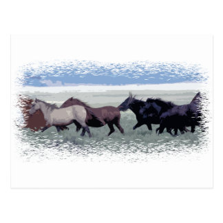 La manada del caballo tarjeta postal