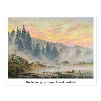 La mañana de Caspar David Friedrich Tarjeta Postal