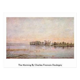La mañana de Charles-Francois Daubigny Tarjeta Postal