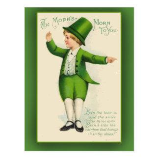La mañana de la mañana a usted tarjetas del día de tarjetas postales