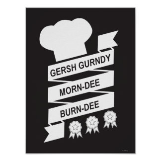 La Mañana-Dee Burndee de los Muppets el | Gersh Póster