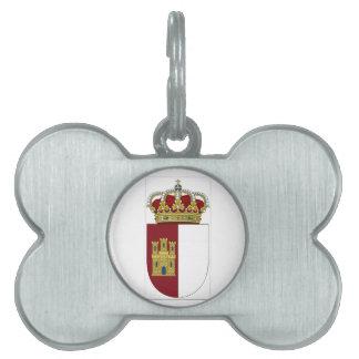 La Mancha (España) de Castilla Placa De Nombre De Mascota