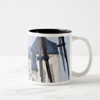 La Mancha, Spain. Don Quixote famously tilted at Two-Tone Coffee Mug