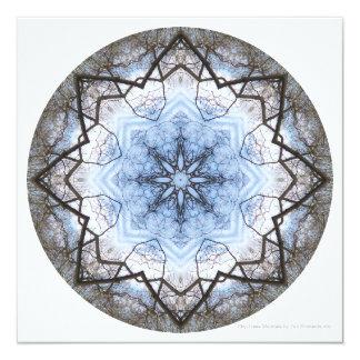 La mandala de los Cielo-Árboles invita por Invitación 13,3 Cm X 13,3cm