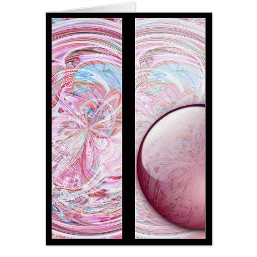 La mandala del caramelo de algodón diseña la tarjeta de felicitación