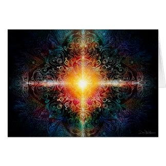 La mandala del corazón colorea 3 tarjeta de felicitación