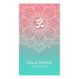 La mandala elegante Namaste OM de Lotus del Tarjetas De Visita