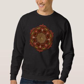 La mandala flamea la camiseta pullover sudadera