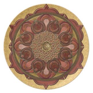 La mandala flamea la placa V1 Platos De Comidas