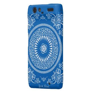 La mandala india azul inspiró el modelo droid RAZR carcasas