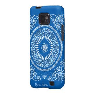 La mandala india azul inspiró el modelo samsung galaxy SII carcasas