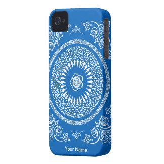 La mandala india azul inspiró el modelo iPhone 4 Case-Mate cobertura