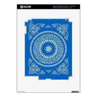La mandala india azul inspiró el modelo iPad 3 pegatinas skins