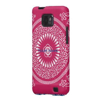 La mandala india del rosa y blanca inspiró el mode samsung galaxy SII funda