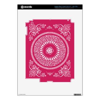 La mandala india del rosa y blanca inspiró el mode iPad 3 pegatina skin