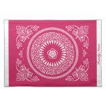 La mandala india rosada hermosa inspiró Placemat Manteles Individuales