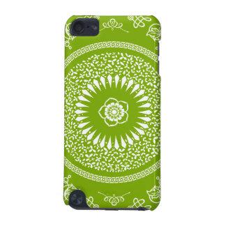 La mandala india verde y blanca inspiró el modelo