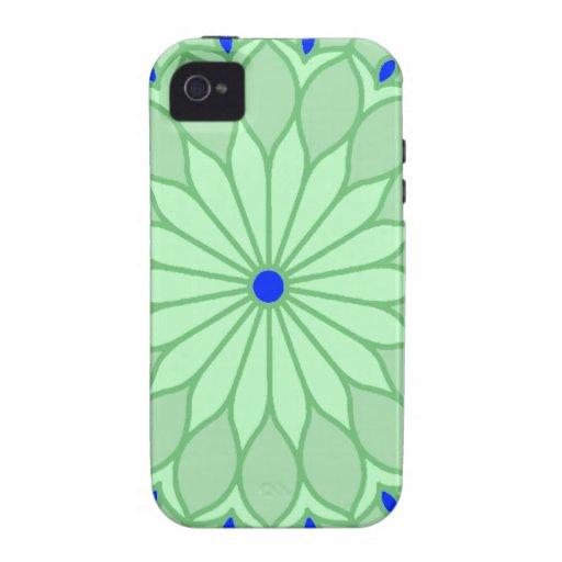 La mandala inspiró la flor del verde de mar Case-Mate iPhone 4 carcasa