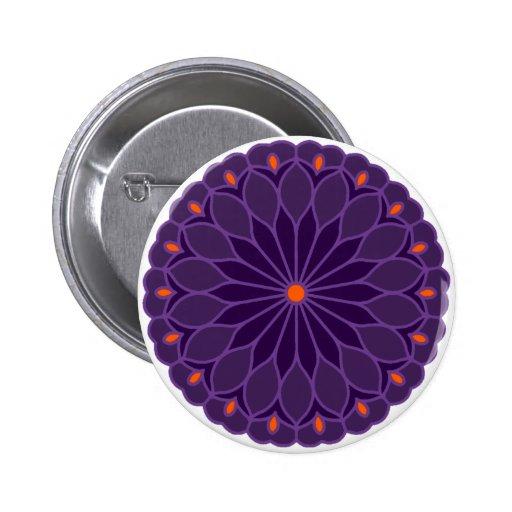 La mandala inspiró la flor púrpura pin