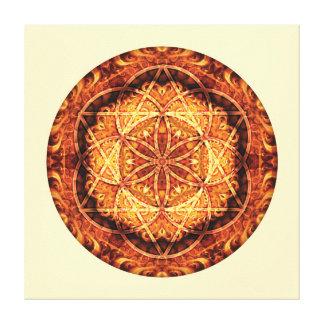 La mandala sagrada 3 de la geometría estiró la imp impresion de lienzo