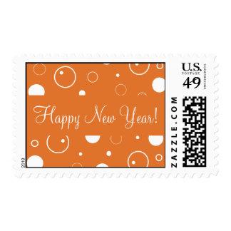 La mandarina burbujea franqueo de la Feliz Año Nue