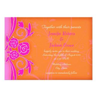 La mandarina y el boda moderno color de rosa llame