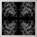 La manera adentro. Arte del fractal. Monocromático Poster