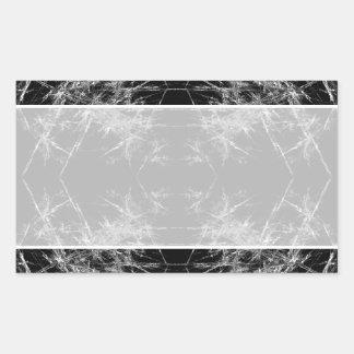La manera adentro Arte del fractal Monocromático Etiqueta