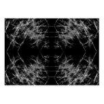 La manera adentro. Arte del fractal. Monocromático Plantillas De Tarjeta De Negocio