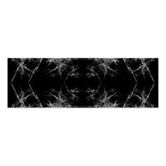 La manera adentro Arte del fractal Monocromático Tarjeta Personal