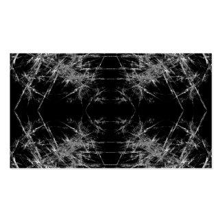 La manera adentro. Arte del fractal. Monocromático Tarjetas De Visita